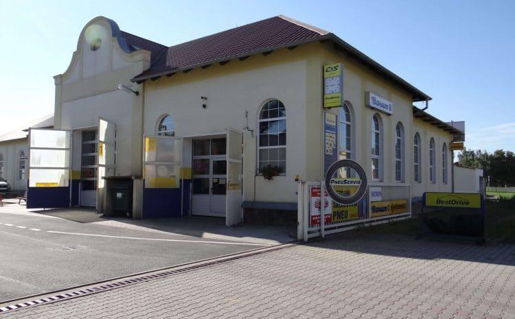 Vjezd do areálu C & S Lovosice