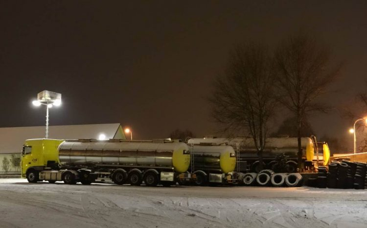 Cisterny v zimě C & S, s.r.o. 2018